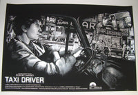 Barret Chapman Taxi Driver Movie Poster Silver Variant 2015 Robert DeNiro