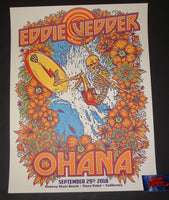 Ben Brown Eddie Vedder Ohana Music Festival Dana Point Poster 2018