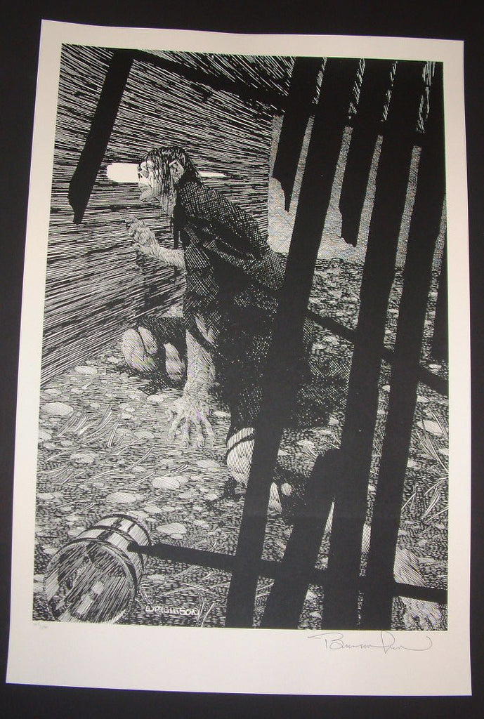 Bernie Wrightson Close Attention Frankenstein Art Print 2013 Artist Edition