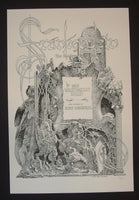 Bernie Wrightson Mary Shelley's Frankenstein Book Title Page Art Print 2013