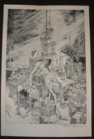 Bernie Wrightson Torrent of Light Into Our Dark World Frankenstein Art Print 2013 Artist Edition