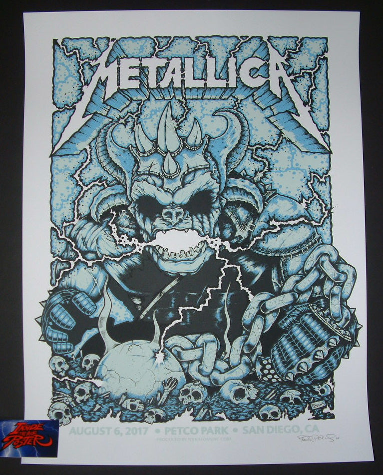 Billy Perkins Metallica San Diego VIP Poster 2017 Signed Artist Proof