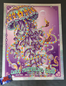Bioworkz Dave Matthews Band West Palm Beach Poster Donuts Foil Drive In 2020