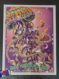 Bioworkz Dave Matthews Band West Palm Beach Poster Artist Edition Drive In 2020