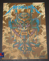 BioWorkZ Metallica Wichita Poster Artist Edition Blue & Purple 2019