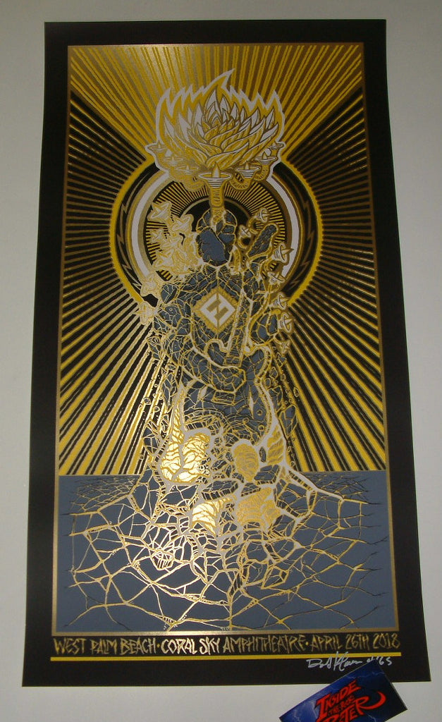 Brad Klausen Foo Fighters Poster West Palm Beach Gold Foil Variant 2018