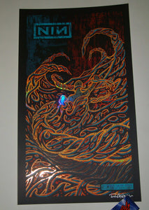 Brad Klausen Nine Inch Nails Poster Brooklyn Foil Variant Artist Edition 2018