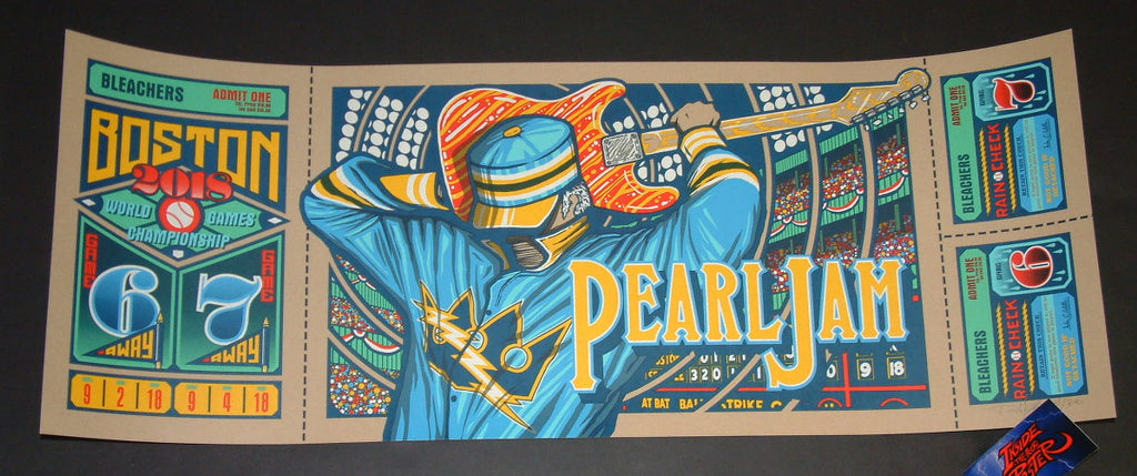 Brad Klausen Pearl Jam Boston Poster Artist Edition 2018 Away Shows