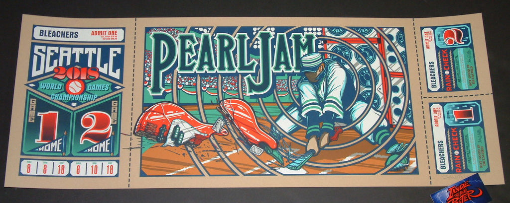 Brad Klausen Pearl Jam Seattle Poster Artist Edition 2018 Home Shows
