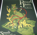 Brad Klausen Pearl Jam South America Tour Poster Artist Edition 2005