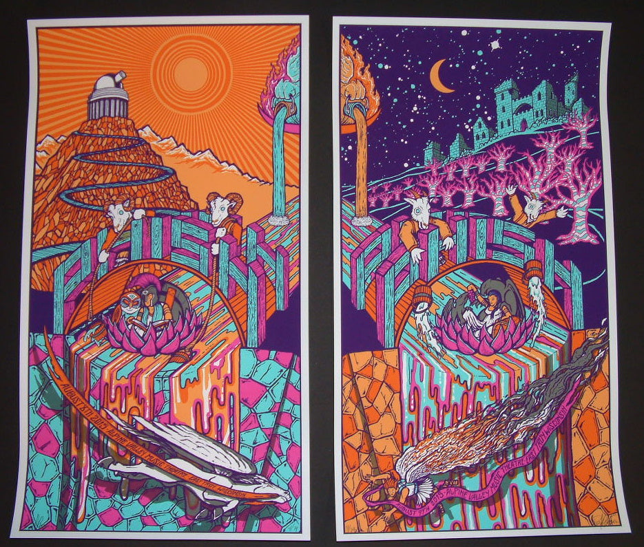 Brad Klausen Phish East Troy Alpine Valley Poster Set 2015 Artist Edition
