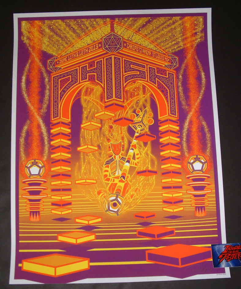 Brad Klausen Phish St Louis Poster Orange Variant Artist Edition 2019