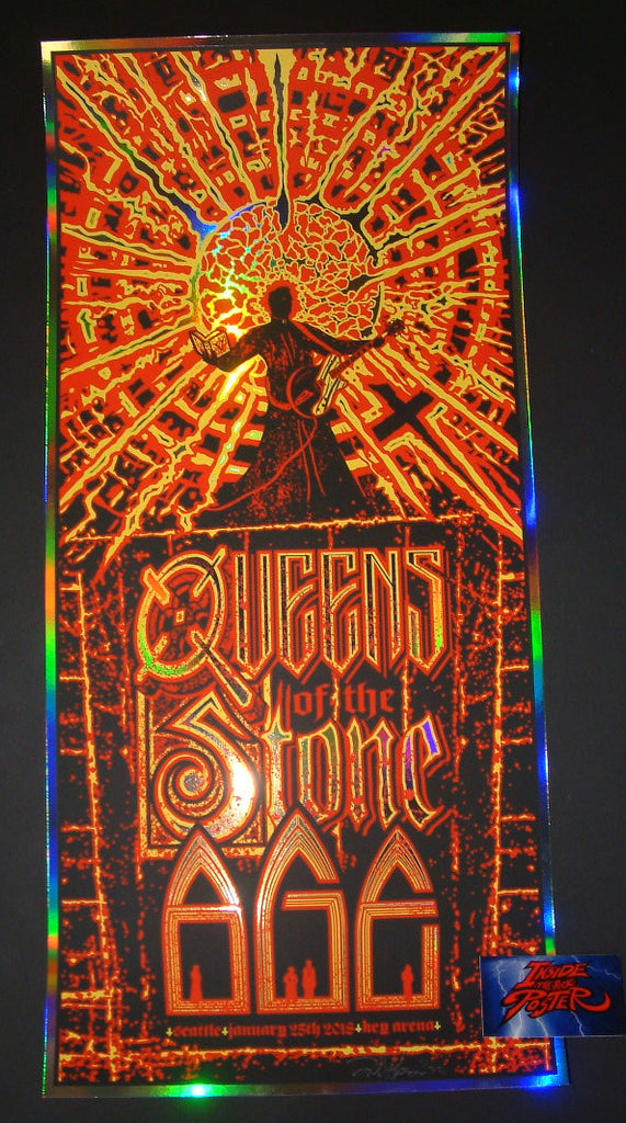 Brad Klausen Queens of the Stone Age Poster Seattle Foil Variant 2018 Artist Edition
