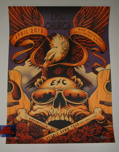 Brandon Heart Eric Church Greenville Chief Pop Up Store Poster Artist Edition 2019