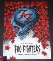 Brandon Heart Foo Fighters Boston Fenway Park Poster 2018 Artist Edition