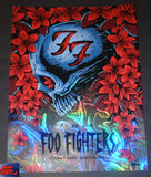 Brandon Heart Foo Fighters Boston Poster Swirl Foil Variant 2018 Artist Edition