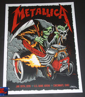 Brandon Heart Metallica Cincinnati Poster Artist Edition 2019