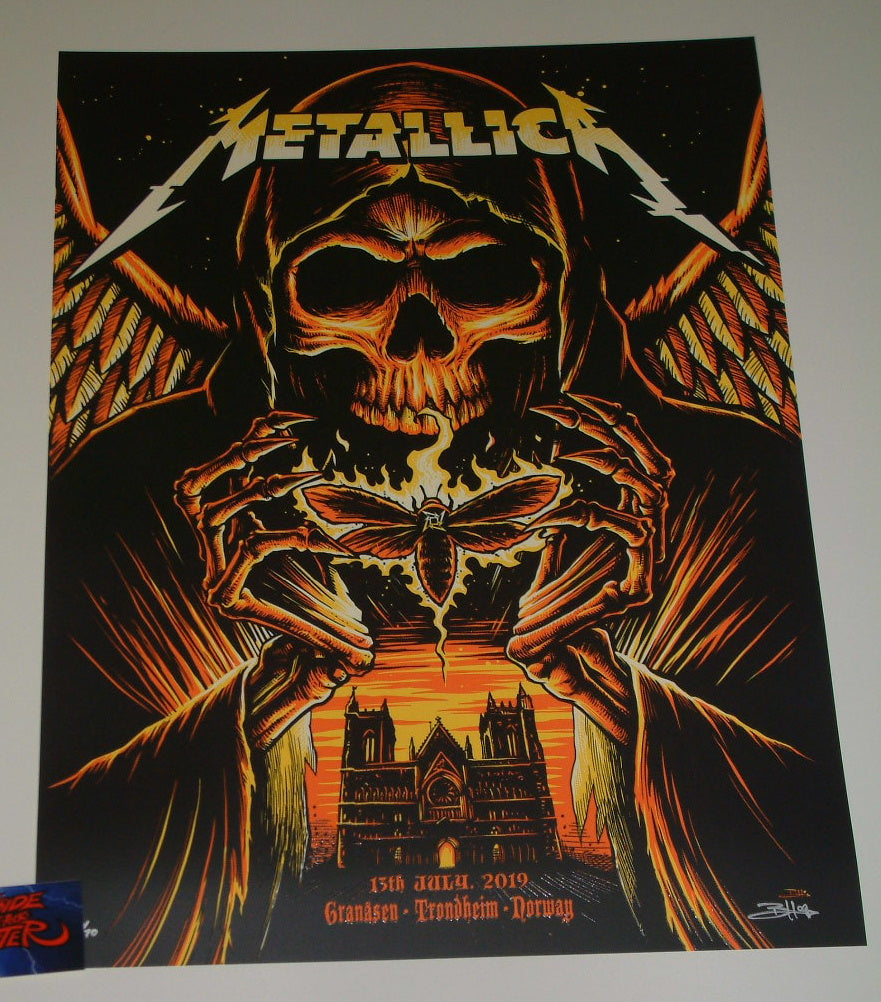 Brandon Heart Metallica Trondheim Norway Poster Artist Edition 2019