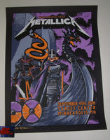 Brent Schoonover Metallica Poster Minneapolis Purple Variant 2018 Artist Edition
