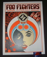 Brian Ewing Foo Fighters Poster Cincinnati 2017 Artist Edition