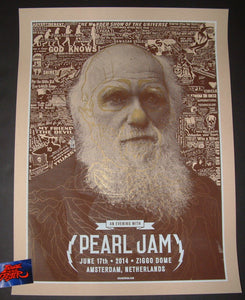 Brian Ewing Pearl Jam Poster Amsterdam Netherlands 2014