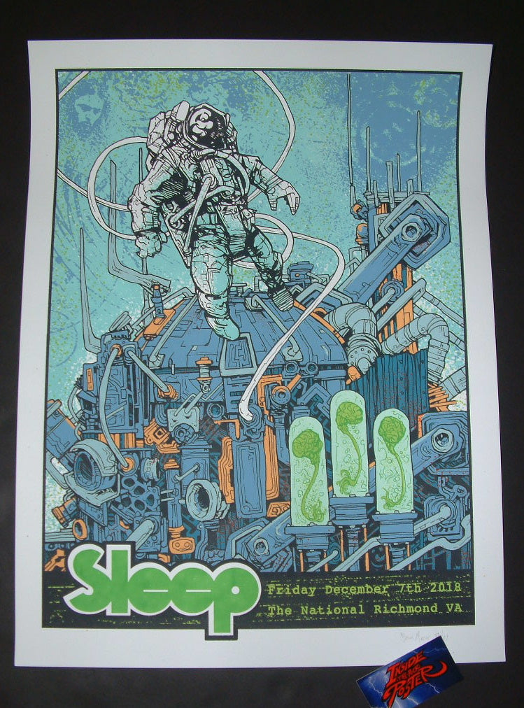 Brian Mercer Sleep Richmond Poster Artist Edition 2018