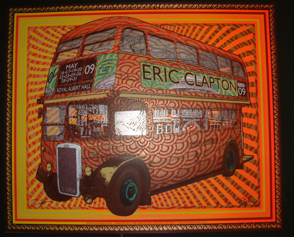 Chuck Sperry Eric Clapton London England Poster Firehouse print