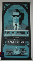 Charles Crisler Avett Brothers Poster Chicago 2017 Artist Edition Blues