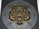 Chris Saunders Tiger's Eye Mandala Art Print 2015