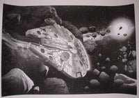 Chris Skinner Star Wars Millennium Falcon Art Print Viewpoints 2014