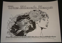 Chuck Sperry Black Keys Council Bluffs Concert Poster Black White Test Variant Signed 2011