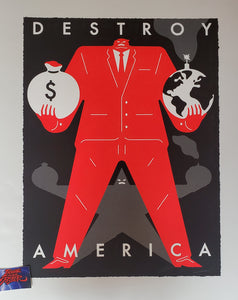 Cleon Peterson Destroy America Art Print Black Variant 2020