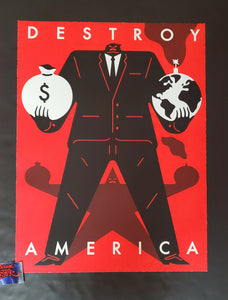 Cleon Peterson Destroy America Art Print Red Variant 2020