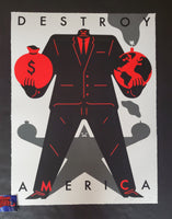 Cleon Peterson Destroy America Art Print White Variant 2020