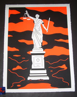 Cleon Peterson Law Art Print Monument To Power 2019