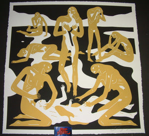 Cleon Peterson Virgins Art Print Gold Variant 2017