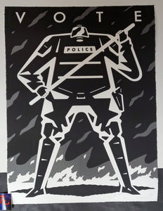 Cleon Peterson Vote II Art Print White Variant 2020