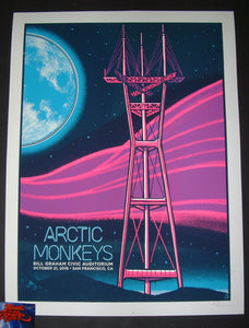 Clinton Reno Arctic Monkeys San Francisco Poster Artist Edition 2018 Night 2