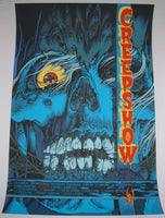 Mike Sutfin Creepshow Movie Poster Blue Variant Mondo 2013