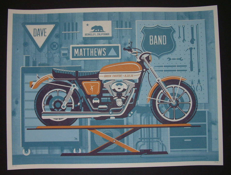 DKNG Studios Dave Matthews Band Poster Berkeley 2014 Night 1 Artist Edition