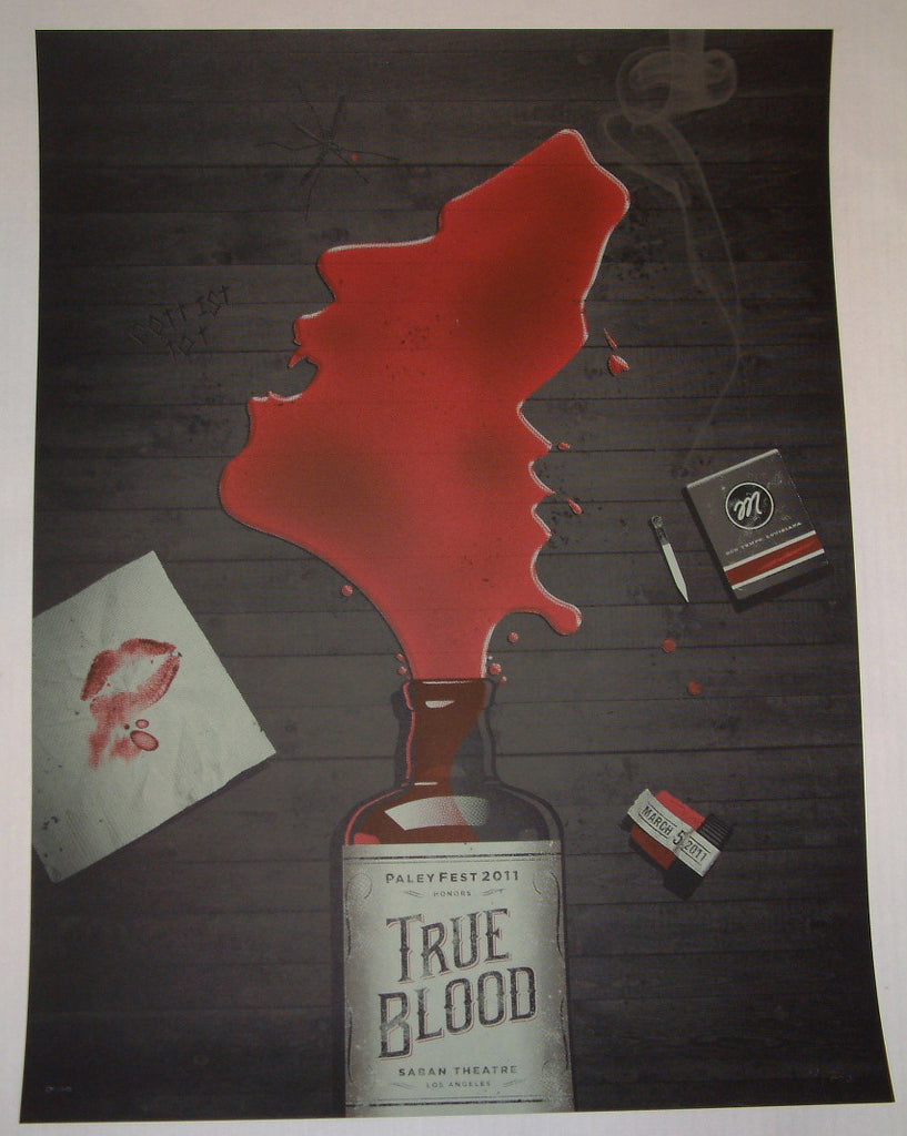 DKNG Studios True Blood Poster Black Edition 2011 HBO Television S/N