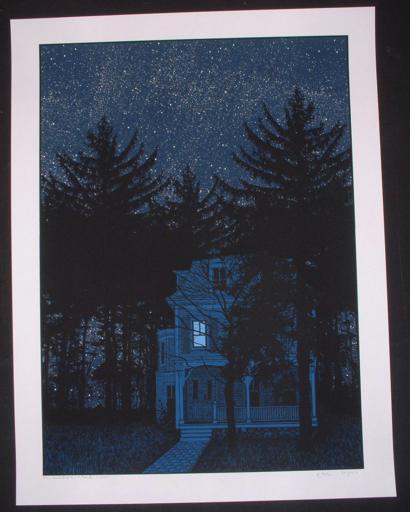 Dan McCarthy The Haunted Fish Tank Print S/N Glows In The Dark