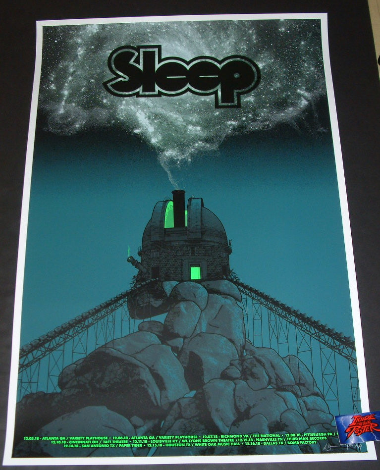 Dan McCarthy Sleep Poster December Tour Artist Edition 2018