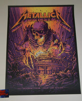 Dan Mumford Metallica London Poster 2019