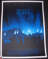 Daniel Danger Cowboys & Aliens Movie Poster Mondo 2011
