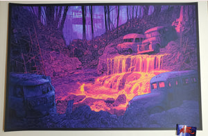Daniel Danger Grateful Dead Fountain Art Print Fire on the Mountain 2020