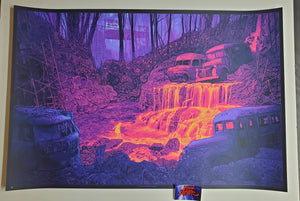 Daniel Danger Grateful Dead Fountain Art Print Fire on the Mountain AP 2020