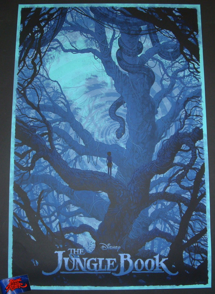Daniel Danger Jungle Book Movie Poster Hypno Blue Variant 2016 Mondo