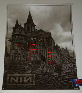 Daniel Danger Nine Inch Nails Atlanta Poster Artist Edition 2018 Night 1