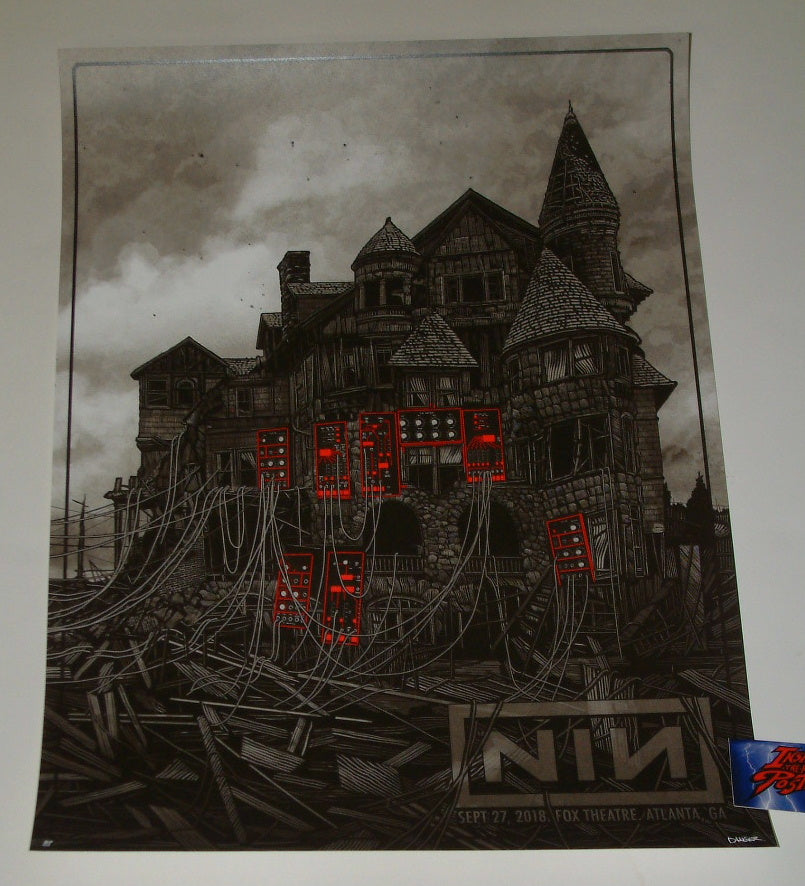 Daniel Danger Nine Inch Nails Atlanta Poster Artist Edition Night 2 2018